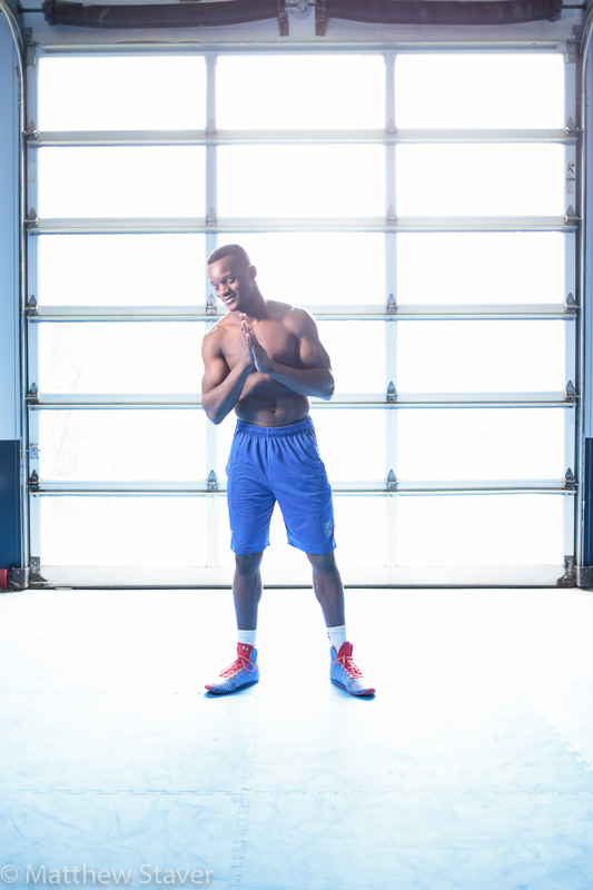 Portrait of boxer Troy Isley after his workout