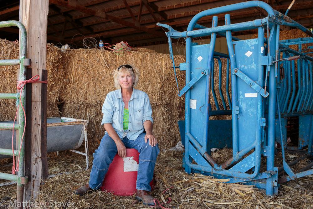 Portrait of a Woman Rancher in Colorado